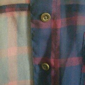Mudd Tops - Sheer Button Up Shirt